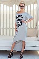 Женское платье-футболка удлинённая, фото 1