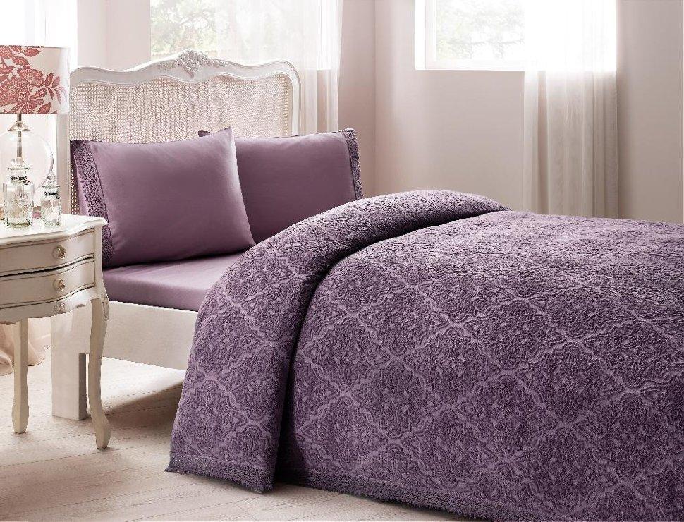 Tivolyo home покрывало пике LAPERLA  евро фиолетовый