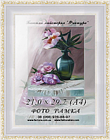 Фоторамка пластиковая, рамка для фото, дипломов, сертификатов, грамот, графики, акварели, пастели