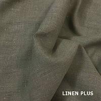 Серая натуральная льняная ткань, цвет 330