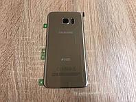 Крышка задняя Samsung S7 Edge Galaxy G935 Серая Silver оригинал!, фото 1
