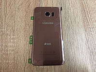 Крышка задняя Samsung S7 Edge Galaxy G935 Розовая Pink оригинал!