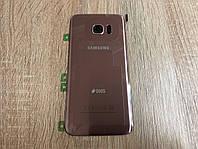 Крышка задняя Samsung S7 Edge Galaxy G935 Розовая Pink оригинал!, фото 1