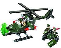 """Конструктор BRICK 806 """"Вертолёт-преследователь"""", 119 дет"""