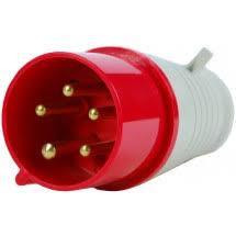 Вилка переносна 015 16А (240-415В) 5 контак. (3P + N + E) Червоний