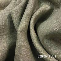 Темно серая льняная ткань 100% лен, цвет 330