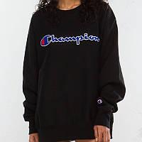 Champion свитшот женский • Бирки ориг. • Черная кофта