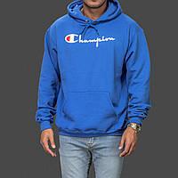 Champion толстовка • Мужская худи ярко синяя