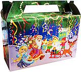 """Новорічна упаковка """"Дід і Снігурка"""" для цукерок 300 г, фото 3"""