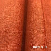 Плотная терракотовая льняная ткань 100%, цвет 381