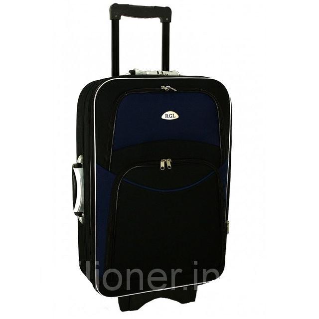 Чемодан дорожный сумка 773 (небольшой) черно-т.синий
