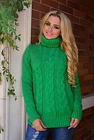 Свитер женский 1556 Ворот, (7 цв) теплый женский свитер под горло