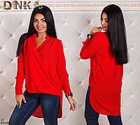 Блуза женская со шлейфом 50,52,54,56