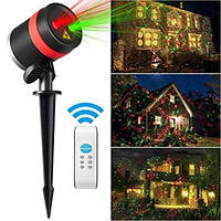 Новогодний лазерный проектор для дома и сада Garden Landscape Light