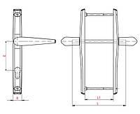 Нажимной гарнитур Stublina 85 мм. шир. 25 мм, коричневый