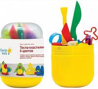 Мини-набор для лепки Тесто-пластилин 6 цветов