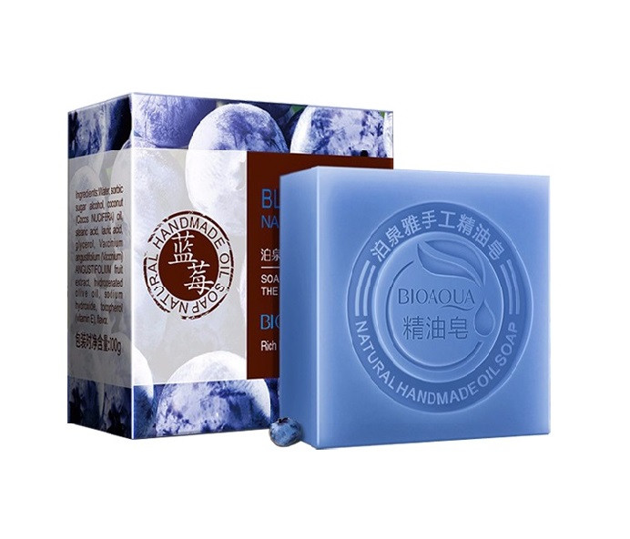 Натуральное мыло с экстрактом черники и кокосовым маслом BIOAQUA Blueberry Natural Oil Soap