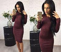 Платье женское деловое футляр ангора софт 42 44 46 48 50 р, фото 1