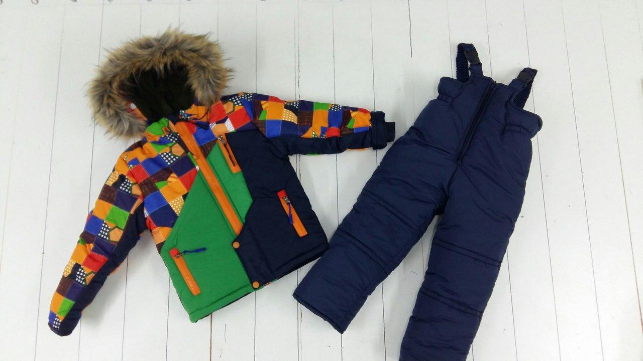 Зимний полукомбинезон и куртка для мальчика Турба