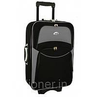 Чемодан дорожный сумка 773 (небольшой) черно-серый