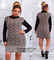Платье двойка с жилеткой ангора+букле 50-52,54-56