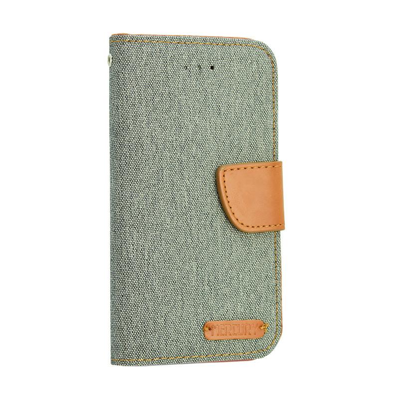 Универсальный чехол-книжка для телефона Goospery Canvas Diary  4.5 дюйма, Grey