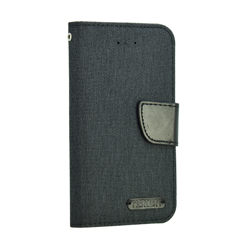 Универсальный чехол-книжка для телефона Goospery Canvas Diary  5 дюймов, Black