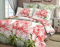 Комплект постельного белья  Розы  (рис.1).  Полуторный. Бязь