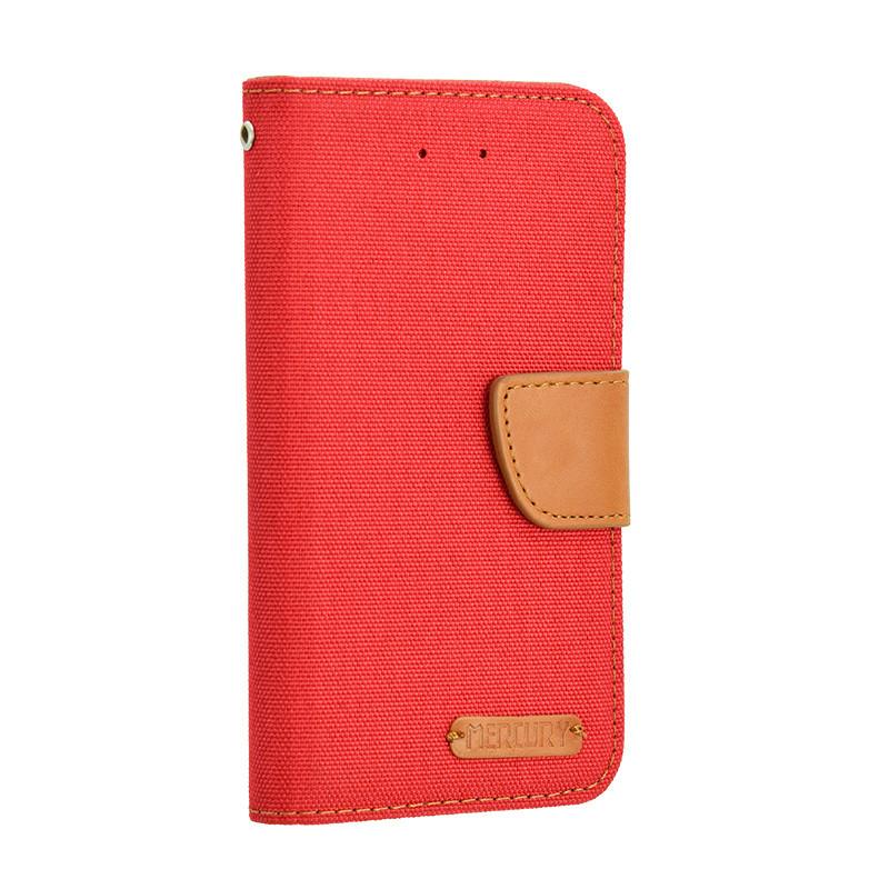 Универсальный чехол-книжка для телефона Goospery Canvas Diary  5 дюймов, Red