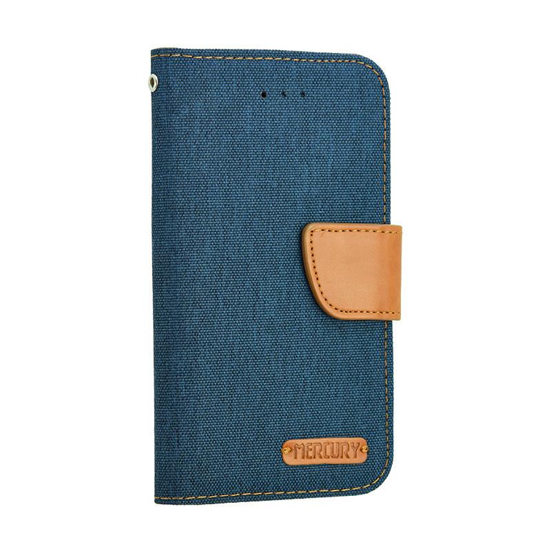 Универсальный чехол-книжка для телефона Goospery Canvas Diary  5.5 дюйма, Blue