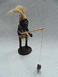 Статуэтка деревянная Рыбак размер 16*15*7 см, фото 2