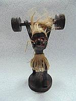 Статуэтка деревянная Штангист размер 19*12*8 см