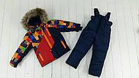 Зимний комбинезон для мальчика 3-6 лет Турба красный, фото 1