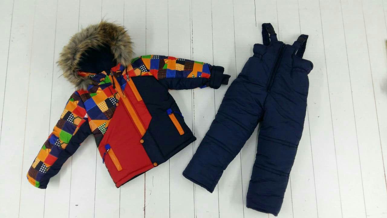 Зимний комбинезон для мальчика 3-6 лет Турба красный