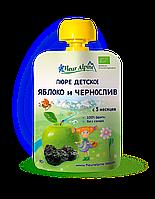 Детское фруктово-ягодное пюре Fleur Alpine ЯБЛОКО и ЧЕРНОСЛИВ 90г