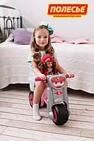 Каталка-мотоцикл для девочки Мини-мото розовая Полесье