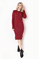 Платье вязанное Рамка(4 цв), вязанное платье, теплое вязаное платье