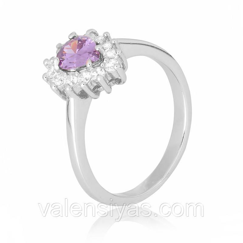 Серебряное кольцо-комплект КК2ФА/383
