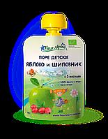 Детское фруктово-ягодное пюре Fleur Alpine ЯБЛОКО и ШИПОВНИК 90г