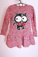 Платье детское Кошка флис (2цв) детское платье, теплое детское платье, дропшиппинг
