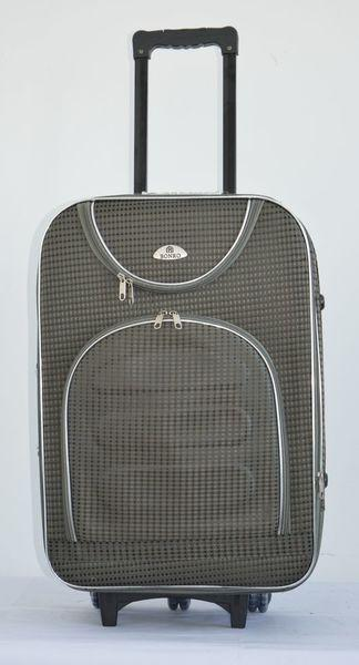 Чемодан дорожный сумка Bonro Lux (небольшой) серый-клетка