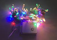 Гирлянда электрическая силикон 300 ламп 8 функций