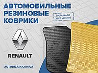 Резиновые автоковры на RENAULT Laguna II 01- (design 2016)