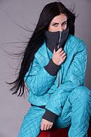 Женский зимний спортивный костюм -двойка на синтепоне   +цвета
