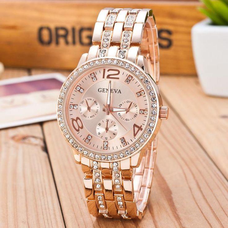 Женские часы Geneva rose gold