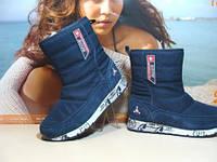 Термо ботинки BaaS Snow Boots синие 38 р.