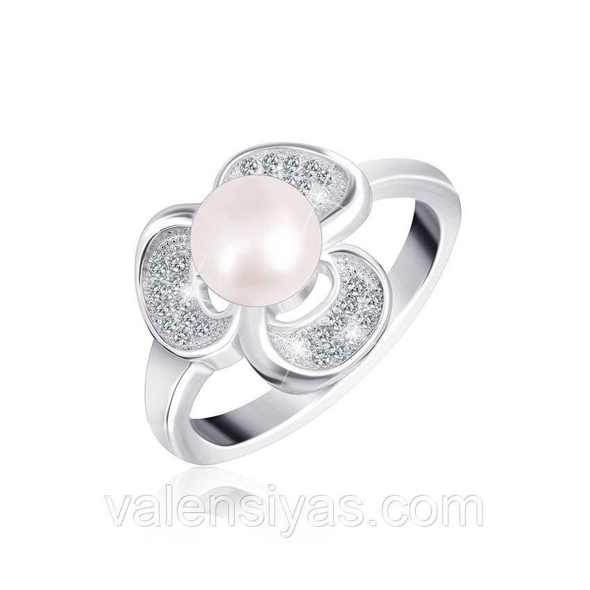 Серебряное кольцо-комплект КК2ФЖ/412