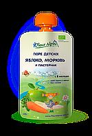Детское фруктово-овощное пюре Fleur Alpine ЯБЛОКО, МОРКОВЬ и ПАСТЕРНАК 120г