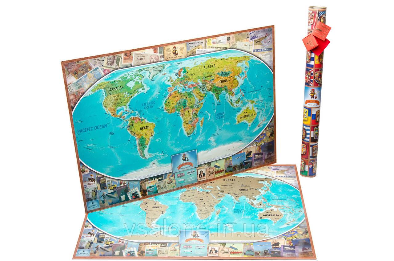 Скретч карта мира My Map Vintage ENG Edition
