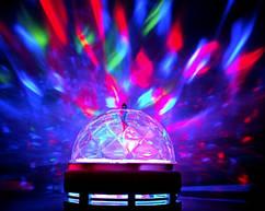 E27 3Вт RGB большая вращающаяся LED лампа для вечеринок цветомузыка